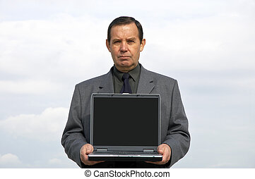 businessman with laptop