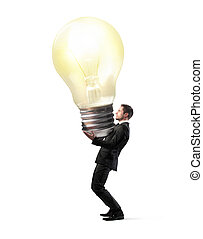 Businessman with lightbulb