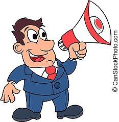Businessman with megaphone 2