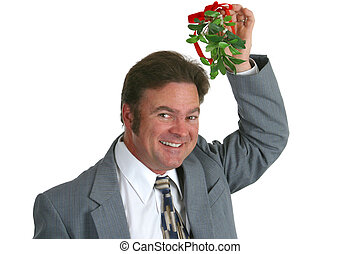 Businessman With Mistletoe