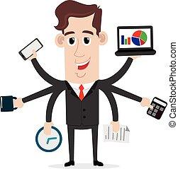 Businessman with multi skills