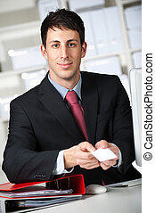 Businessman With Namecard