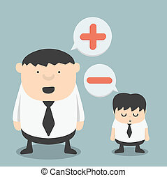 Businessman with negative and Businessman Obese  with positive t