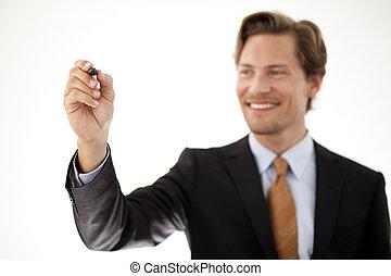Businessman with pen