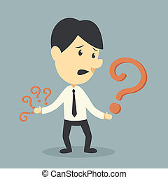 Businessman with Question mark symb