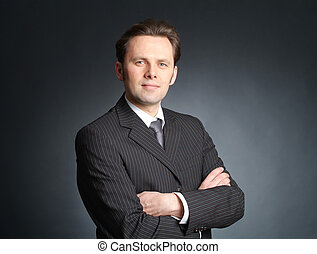 Businessman with self-confident expression
