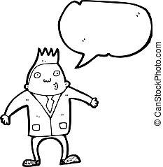 businessman with speech bubble