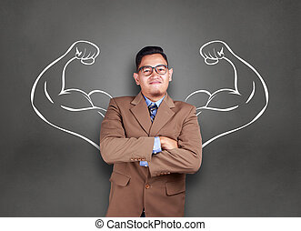 Businessman with Strong Inner Power
