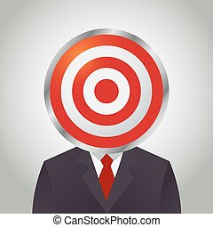 Businessman With Target Circle as His Head-01.eps