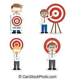 businessman with target set