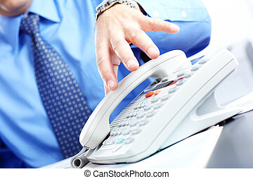 Businessman with telephone in the office