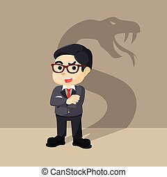 businessman with the shadow of a