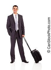 businessman with trolley bag