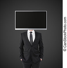 businessman with TV