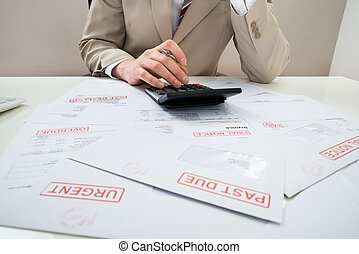 Businessman With Unpaid Bills