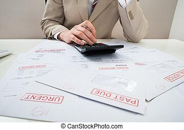 Businessman With Unpaid Bills
