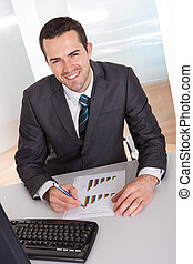 Businessman working at the office
