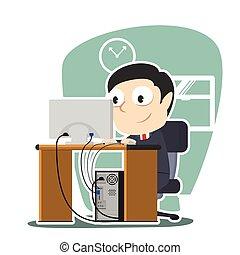 businessman working illustration design