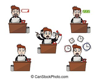 businessman working illustration