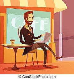 Businessman Working Illustration - Businessman working...