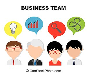 businessman working in team