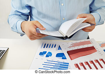 Businessman working with documents