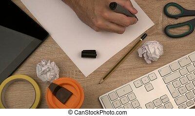 Businessman writing Inspiration