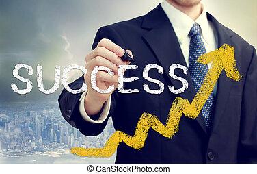Businessman Writing Success