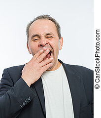 Businessman yawn boring