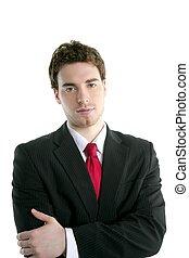businessman young handsome portrait tie suit