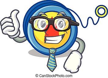 Businessman yoyo character cartoon style vector illustration