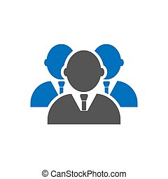 Businessmans icon in trendy flat style isolated on white background. Leadership symbol for your web site design, logo, app, UI. Vector illustration, EPS10.