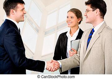 businessmen�s, aperto mão