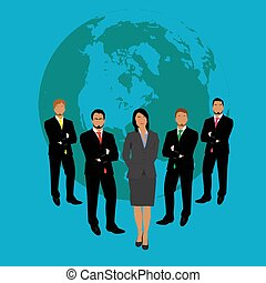 businessmen and businesswoman