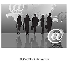 Businessmen and E-mail Icon