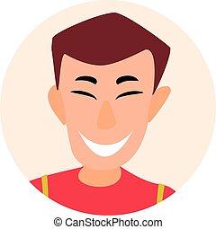 businessmen., apartamento, pessoas., avatar, ícones