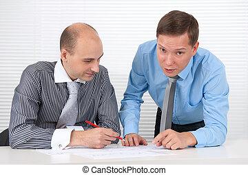 businessmen at a meeting. Teamwork