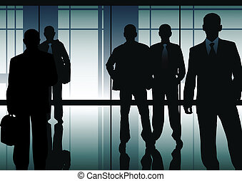 Businessmen - business concept made from my images
