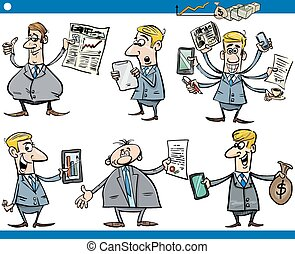 businessmen cartoon set - Cartoon Illustration Set of Funny...