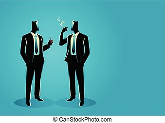 Businessmen casually talking with each other - Business...