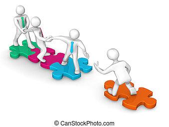 Businessmen Colored Puzzles