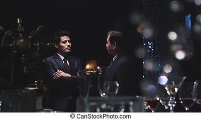 businessmen, do, konverzace