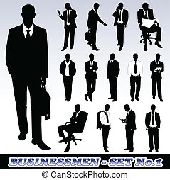Businessmen - Highly Detailed Silhouettes of Businessmen