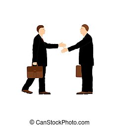 businessmen., due, handshake.
