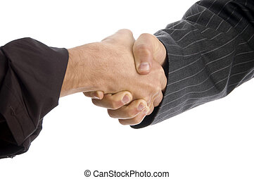 businessmen hands with successful deal