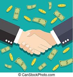 Businessmen handshake