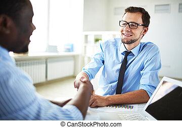 businessmen, handshaking