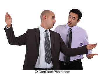 Businessmen having a disagreement
