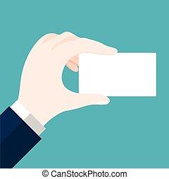 Businessmen holding blank card-Vector flat design