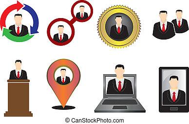 Businessmen Icon and Symbol Vector Illustration
